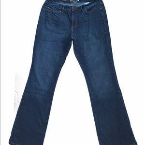 Lee curvy fit bootcut dark wash jeans